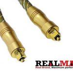 Realmax® Maille de nylon câble Toslink 1m 2m 3m 4m 5m 10m Audio Numérique Optique Doré de qualité premium Prend en charge tous les appareils compatibles Toslink et gadgets de la marque REALMAX® - UK image 4 produit