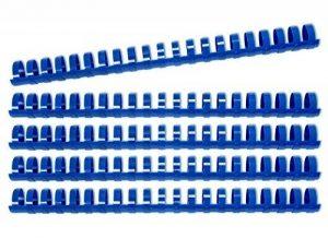 Reliure plastique, Reliures à spirales, 14mm, 100feuilles, rond, Set de 100pièces, bleu de la marque Kopierladen image 0 produit