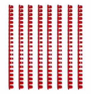 Reliure plastique, spirales, 12mm, ronde, rouge, lot de 100pièces de la marque Kopierladen image 0 produit