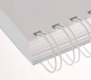 Renz - Reliure métallique Renz Ring Wire - 8.0 mm A4 34 Anneaux Pas 3:1- Blanc de la marque Renz image 0 produit