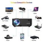 Retroprojecteur, Artlii Videoprojecteur Portable LED Soutien HD 1080p HDMI USB VGA AV SD,Projecteur de Cinéma Maison(Noir) de la marque Artlii image 2 produit