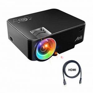 Retroprojecteur, Artlii Videoprojecteur Portable LED Soutien HD 1080p HDMI USB VGA AV SD,Projecteur de Cinéma Maison(Noir) de la marque image 0 produit