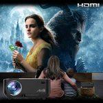 Retroprojecteur, Artlii Videoprojecteur Portable LED Soutien HD 1080p HDMI USB VGA AV SD,Projecteur de Cinéma Maison(Noir) de la marque image 1 produit