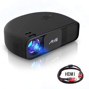 Retroprojecteur HD, Artlii Video projecteur 1280x800p 3D - Projecteurs LED Relier Ordinateur Portable PC iPhone Smartphone pour Jeux Video Films de la marque image 0 produit