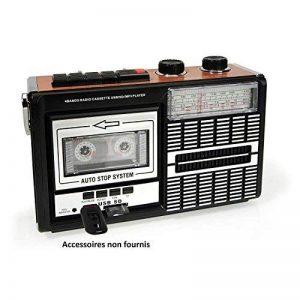 Ricatech PR85 - Retour aux années 80 - Lecteur cassette portable et enregistreur avec haut-parleur intégré 8 Watt | Radio 3 bande AM/FM/SW, Port carte USB et SD et Microphone intégré avec enregistrement de la marque Ricatech image 0 produit