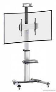 RICOO Meuble sur pied TV Roulettes Design FS0444 Support en verre colonne LED LCD Plasma QE OLED Smart socle de tele écran original meubles téléviseurs rack VESA 400x400 universel hauteur réglable de la marque RICOO image 0 produit