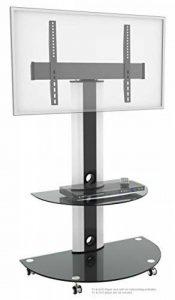 RICOO Meuble sur pied TV Roulettes Design FS0502 Support en verre colonne LED LCD Plasma QE OLED 3D 4K Smart socle de tele écran original meubles téléviseurs rack VESA 600x400 universel de la marque RICOO image 0 produit