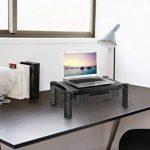 RICOO Support réhausseur ecran plat PC WM2-L pupitre pour table de bureau avec tiroir pose moniteur 4K OLED TV écran ordinateur portable stand de tablette tactile hauteur réglable modulable/plastique de la marque RICOO image 1 produit