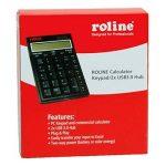 Roline Calculatrice de Poche I Calculatrice de Bureau et pavé numérique I avec Hub 2 Ports USB 3.0 Hub de la marque ROLINE image 2 produit