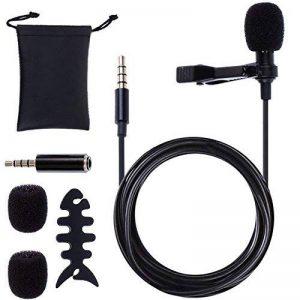 Rovtop 3.5mm Micro Cravate Microphone pc Micro Cravate Stéréo Audio Microphone Jack Micro Cravate Smartphone Tie Clip de Type Omnidirectionnel Applicable à la Téléphone, Android, Iphone, Ipad de la marque Rovtop image 0 produit