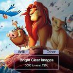 Rétroprojecteur HD, Artlii Vidéoprojecteur LED, Compatible 1080p 3D pour iPhone, Smartphones Android, PC, Ordinateurs Portables pour Films et Jeux Vidéo de la marque Artlii image 3 produit