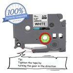 Ruban cassette laminé TZe-231 TZ231, Cassette à cartouche tape, Ruban pour étiqueteuse, Noir sur Blanc, 12 mm x 8m, Compatible Brother P-Touch 1000W 1010 1090 1830VP 2030VP 2100VP 2430PC 2470 2730VP 7100 VP7600VP H100R H300 D200VP (3 Pack) de la marque Ma image 1 produit