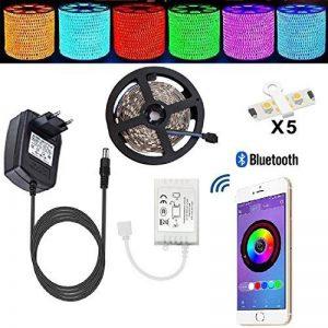 Ruban Led Tenlion de la Commande de L'APP du Smartphone de Bluetooth S'Adaptent Aux SystèMs D'Android Et IOS Dispositifs Complets RGB 5mèTres 5050 Bande Led +12V 3A L'Alimentation éLectrique de la marque Tenlion image 0 produit