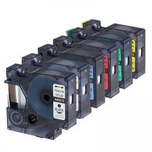 Rubans Compatible Dymo D1 12mm x 7m, 45010 45013 45016 45017 45018 45019, pour DYMO Label Manager 100, 120P, 160, 200, 210D, 220P, 260P, 280, 300, 360D, 400, 420P, 450, 450D, PC, PC II, PnP de la marque Oozmas image 0 produit
