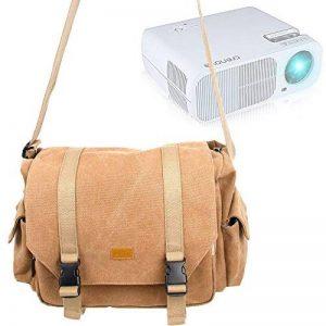 Sac toile de coton couleur sable pour Excelvan GM60 Mini Projecteur VidéoProjecteur Portable - compartiments modulables, par DURAGADGET de la marque Duragadget image 0 produit