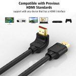 Samzhe câble HDMI coudé à 90degrés, HDMI 2.0Câble HDMI vers HDMI mâle vers mâle connecteur plaqué or câble vidéo Prend en charge UHD 4K * 2K 60GHz 3d 18Gbps haute vitesse pour vidéoprojecteur, lecteur Blu-Ray, HD TV, Roku, Xbox360, PS3, PS4, Apple T image 4 produit