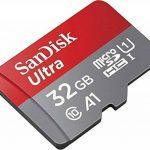 SanDisk Carte Mémoire microSDHC SanDisk Ultra 32GB + Adaptateur SD. Vitesse de Lecture Allant jusqu'à 98MB/S, Classe 10, U1, homologuée A1 (Nouvelle Version) - Gris, Rouge de la marque SanDisk image 1 produit