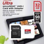 SanDisk Carte Mémoire microSDHC SanDisk Ultra 32GB + Adaptateur SD. Vitesse de Lecture Allant jusqu'à 98MB/S, Classe 10, U1, homologuée A1 (Nouvelle Version) - Gris, Rouge de la marque SanDisk image 4 produit
