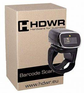 Sans fil Bluetooth doigt scanner de codes 32-bit Decoder, Rechargeable, petite taille, le moteur laser, 1D, Windows, Linux, Android, HD75 de la marque HDWR image 0 produit