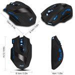 Sans fil Gaming Mouse, 9 boutons 4 niveaux réglable DPI 2,4 GHz Jeu souris optique rechargeable souris Zelotes (Genre) F15 sans fil/filaire de souris pour ordinateur portable PC calcul pour ordinateur portable Mac avec de la marque Kinnara image 3 produit