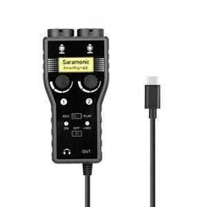 Saramonic SmartRig + UC Interface micro et guitare 2 canaux, mélangeur audio, pour connecter des micros / guitares professionnels pour enregistrer un son de qualité ou créer de la musique avec un périphérique USB de type-C de la marque Saramonic image 0 produit