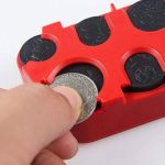 SAVORI Boîte à Monnaie Étui Porte-Monnaie Plastique 101x52x23mm pour Dépôt de Pièce de Monnaie Différente Taille (Rouge) de la marque SAVORI image 2 produit