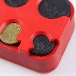 SAVORI Boîte à Monnaie Étui Porte-Monnaie Plastique 101x52x23mm pour Dépôt de Pièce de Monnaie Différente Taille (Rouge) de la marque SAVORI image 3 produit