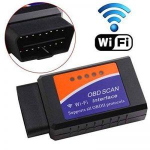 Scanner Wifi OBDII, Gemwon adaptateur OBD2 Wifi Scanner de diagnostic de voiture Lecteur de code Check Engine pour Android et IOS(Wifi-Black) de la marque Gemwon image 0 produit
