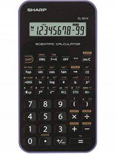 Sharp EL-501X Poche Calculatrice scientifique Noir, Violet calculatrice - Calculatrices (Poche, Calculatrice scientifique, 10 chiffres, 1 lignes, Batterie/Pile, Noir, violet) de la marque Sharp image 0 produit