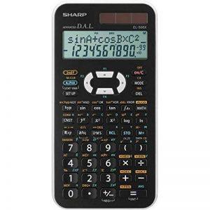 Sharp EL-506XB Poche Calculatrice scientifique Noir, Blanc calculatrice - Calculatrices (Poche, Calculatrice scientifique, 12 chiffres, 2 lignes, Batterie/Solaire, Noir, Blanc) de la marque Sharp image 0 produit