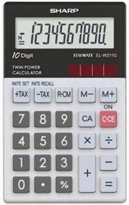 Sharp EL-W211G Calculette à 10 chiffres, calcul de l'impôt de la marque Sharp image 0 produit