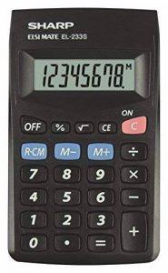 Sharp EL233SBBK Calculatrice de poche, Noir de la marque Sharp image 0 produit