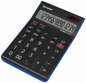 Sharp electronics eL145TBL 14 chiffres calculatrice, calcul de taxes, noir/bleu de la marque Sharp image 0 produit