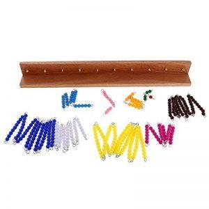 Sharplace Montessori Perles Multicolores Set Jouet de Calcul de Racine Carrée Cadeau Anniversaire Noël pour Enfants de la marque Sharplace image 0 produit