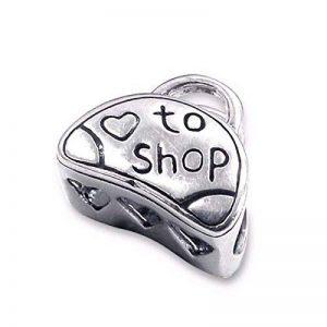 Silvadore - perle argent Aimez faire les courses la perle du porte-monnaie - 925 charme solide 3D diapositive sur - crises le Pandore European bracelet - le cadeau libre a empaqueté de la marque image 0 produit