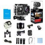 slpro® Action Cam 1080P Full HD sous l'eau Casque étanche caméra d'action caméra grand angle 170° avec accessoires Kits verbesserter Batterie Sports Appareil photo de la marque SLPRO image 3 produit