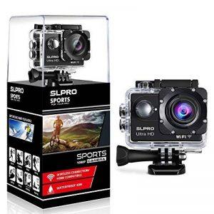 slpro® Action Cam 1080P Full HD sous l'eau Casque étanche caméra d'action caméra grand angle 170° avec accessoires Kits verbesserter Batterie Sports Appareil photo de la marque SLPRO image 0 produit