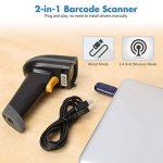 SLYPNOS Scanner de Code-Barres sans Fil, 2.4GHz sans Fil et USB Filaire Scanner à Code-Barres Filaire, Jusqu'à 70 m de portée de réception de la marque SLYPNOS image 1 produit
