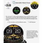 Smart Watch Bluetooth Fitness Montre - Écran tactile étanche, 1,5 pouces HD, compteur d'étape, fréquence cardiaque et moniteur de sommeil Bracelet Smart Sport pour IOS/Android, GPS Track de la marque HHRONG image 1 produit