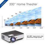 Smartphone HD projecteur Vidéo à la maison-3500 Lumen LED LCD 1080p Jeu projecteur mis à Jour pour iPhone iPad (Câble USB Uniquement) 1280x800 Native HDMI Divertissement en Plein air Movie Proyector de la marque WIKISH image 2 produit