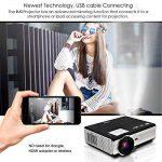 Smartphone HD projecteur Vidéo à la maison-3500 Lumen LED LCD 1080p Jeu projecteur mis à Jour pour iPhone iPad (Câble USB Uniquement) 1280x800 Native HDMI Divertissement en Plein air Movie Proyector de la marque WIKISH image 1 produit