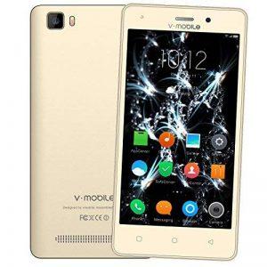 Smartphone Pas Cher 4G,8Pcs V A10 8Go ROM 5MP Appareil Photo Android 7,0 2800mAh Batterie Ecran 5,0 Pouces Double SIM WIFI GPS Quad Core Smartphone Debloqué (Or) de la marque image 0 produit