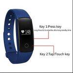 Smartwatch Bracelets énergétiques,Alertes/Mémos et Réveil,Montre de Sport Intelligent Bluetooth,Design Elégant,dormir moniteur,avec compteur de calories,rappel de danger,alarme et chronomètre de la marque BreLINE image 1 produit