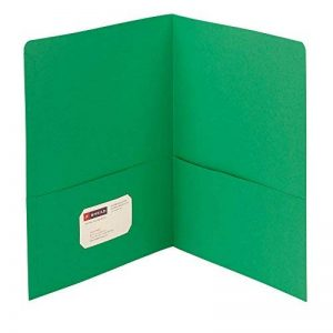 Smead Two-Pocket Heavyweight Folder, Up to 100 Sheets, Letter Size, Green, 25 per Box (87855) de la marque Smead image 0 produit