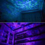 Songsun télécommande Ocean Wave Vidéoprojecteur lumière d'ambiance 12LED et 7couleurs Veilleuse avec mini lecteur de musique intégré pour le salon et la chambre à coucher (12LED Noir) de la marque Songsun image 1 produit