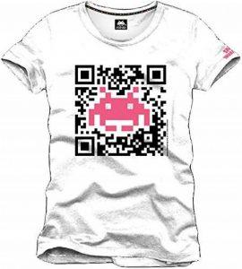 Space Invaders - QR Code Homme T-Shirt - Blanc - Taille Large de la marque Space invaders image 0 produit
