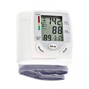 Sphygmomanomètre - Sphygmomanomètre à poignet LCD numérique Mesure pulsomètre à fréquence cardiaque - Portable - Pour les dossiers de santé - Large et clair LCD est facile à lire de la marque AFHKU image 0 produit