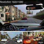 Springdoit Enregistreur de conduite de vision nocturne de haute définition de 4 pouces, enregistreur de conduite de voiture DVR, enregistrement de cycle de détection dynamique durable HD1080P à double lentille avant et après l'image d'inversion de double image 1 produit