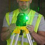 Stanley FatMax Niveau laser X3G, nivellement automatique avec diode verte, lunettes de vision de faisceau laser vertes, chargeur et mallette de transport, 1pièce, FMHT1–77356 de la marque Stanley image 2 produit