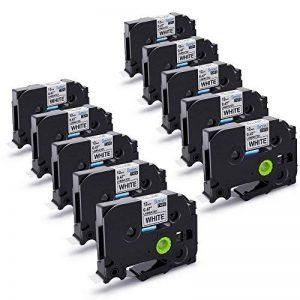 Startup 10 Pack Ruban d'étiquette pour Brother P-touch TZe-231 TZe231 Cassette laminée, noir sur blanc 12mm (0,47 inch) x 8m (26,2 ft) de la marque startup image 0 produit